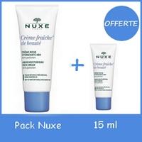 Offre Pack Nuxe crème fraiche de beauté riche 50ml+ 15 ml Offerte