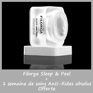 Offre FILORGA CREME SLEEP AND PEEL (50ml) + 1 semaine soins anti-rides OFFERTE