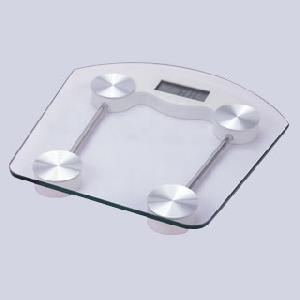Pèse-personne en verre