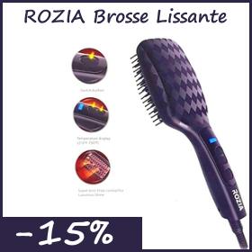Liquidation ROZIA Brosse Lissante chauffante ionique 3D HR766 (emballage endommagé)