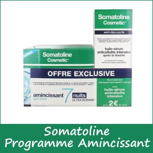 Offre Somatoline 7 Nuit Ultra Intensif Gel Frais 400ml acheté, Somatoline Huile Sérum Anti-cellulite Intensive 125ml Offerte