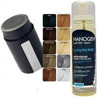 Pack Nanogen® Nanofibres Keratine 100% naturelle camouflage pour cheveux 15g +locking mist plus lotion fixatrice des nanofibres et aquamatch