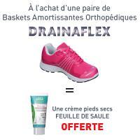 Baskets amortissantes DRAINAFLEX Rose = Crème Pieds OFFERTE