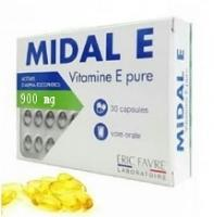 ERIC FAVRE MIDAL E vitamine E en capsules 900mg (30 capsules)