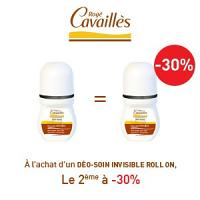 Rogé Cavaillès déodorant anti-traces roll-on lotx2, 2 ème à -30%