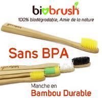 Biobrush Brosse à dent adulte 100% biodégradable (Dure)