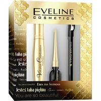 Pack Eveline Cosmetics (Mascara Volume Célebirité, Eyeliner Célebirité, Crayon Noir)
