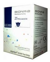 Bandelettes Réactives GS300 pour le Lecteur Bionime GM300 25 unites