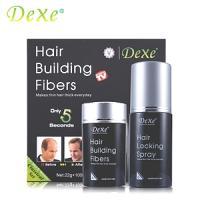 DEXE fibres noir de camouflage pour fixation sur cheveux 22g + spray fixateur 100ml