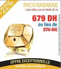 Paco Rabanne lady Million Eau de toilette femmes 80ml