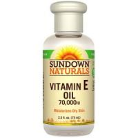 Sundown Naturals, Huile à la Vitamine E, 70 000 UI (75 ml)