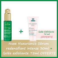Offre Nuxe Nuxuriance Sérum redensifiant intense 30ml - Nuxe Gelée Exfoliante 75ml OFFERTE