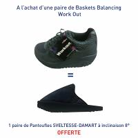 Baskets Balancing Work Out = Une paire de Pantoufles SVELTESSE-DAMART à inclinaison 8° offerte