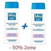 Mixa Bébé Lait de Toilette Très Doux 250ml 2EME -50%  Réf : 6111041065744