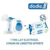 Dodie tire-lait électrique = 2 Packs lingettes dodie Offerts