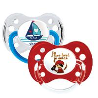 Dodie sucette anatomique silicone +6 duo bateau pirate 14