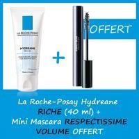 La Roche-Posay Hydreane Riche 40 ML - Mini mascara Offert