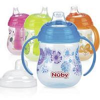 Nûby Gobelet en Poly designer Series imprimé 270ml avec anses et bec en silicone anti-fuite +6 mois Réf : ID10320