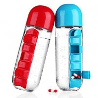 Pilulier bouteille d'eau organisateur de semaine 800 ml