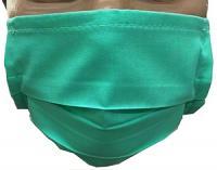 Masque Vert réutilisable Lavable stérilisable anti-projection en tissu imperméable boite de 10 unités