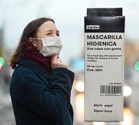Masque de protection hygienique à usage unique en cellulose boite de 100 unités