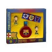 Air-Val FC Barcelona Eau de toilette 50ml +Messi&Xavi Figues + Stickers Réf : 5940