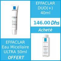 Offre La Roche-Posay Duo (+) 40ml + Effaclar Eau micellaire Ultra 50ml OFFERT