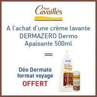 Offre Rogé Cavaillès crème lavante dermo-apaisante 500ml = Deodorant sans sels d'aluminium format voyage est offert