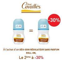 Rogé Cavaillès déodorant régulateur sans parfum roll on lotx2, 2 ème à -30%