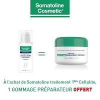 Somatoline traitement première cellulite 150ml = Somatoline gommage préparateur offert