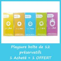Playsure 12 préservatifs en latex naturel - 1 Acheté = 1 Offert