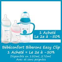 Offre Bébé Confort Maternity Easy Clip biberon - 1 acheté le 2e à -50% (150ml, 270ml et 360ml)