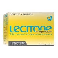 Liquidation de stock Nutrisanté Lecitone Magnesium 60 Gellules Détente - Sommeil EXP : 12/19