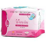 Easy Day 10 Serviettes hygiéniques régulières/De jour avec ailes