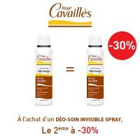 Rogé Cavaillès déodorants anti-traces spray lotx2, 2 ème à -30%