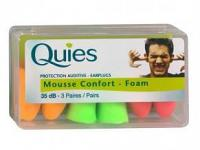 Quies Protection auditive Mousse confort 3 paires (stop bruit)