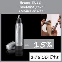 Offre Braun Tondeuse Nez et Oreilles EN10 - Réduction de 15%