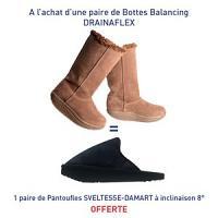 Drainaflex balancing bottes marron = Une paire de Pantoufles SVELTESSE-DAMART à inclinaison 8° offerte