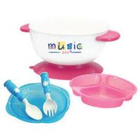 Music Anti-Slip Stay Put Baby Bowl / Orange