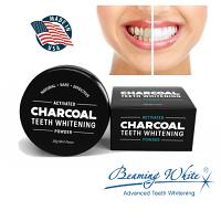 Beaming White Activated Charcoal Powder - Poudre noire de Charbon Actif Blanchissement Dentaire 30G