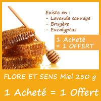 Offre Flore et Sens Miel 250g - 1 Acheté = 1 Offert (Choix de saveur possible)