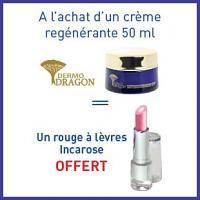 Offre Dermo dragon crème regénérante 50ml = un rouge à lèvres offert