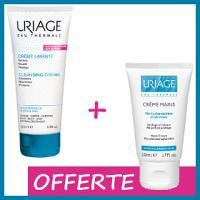 Offre Uriage Crème Lavante 200ml + Uriage Crème mains 50ml OFFERT