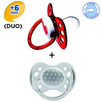 Dodie Sucette Anatomique Silicone +6 Duo Age Coeur13b