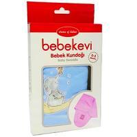 Bebekevi couverture d'emmaillotage bleu ou rose avec motifs 0-3