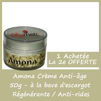 Offre Amona Crème Anti-Age à la Bave D'escargot 50g - 1 Acheté = 1 Offert