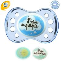 Dodie Sucette Anatomique Silicone +6 Nuit17