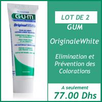 Promotion Gum Original white dentifrice 75 ml (Gum Original white dentifrice 75ml offert)