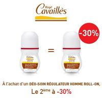 Rogé Cavaillès déodorant homme roll on lotx2, 2 ème à -30%