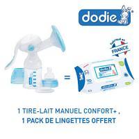 Dodie tire-lait manuel confort+ = 1 pack lingettes Dodie offert